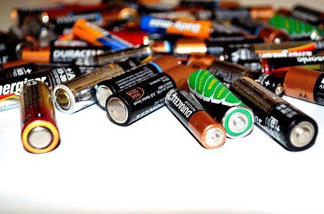 Massen von Einwegbatterien
