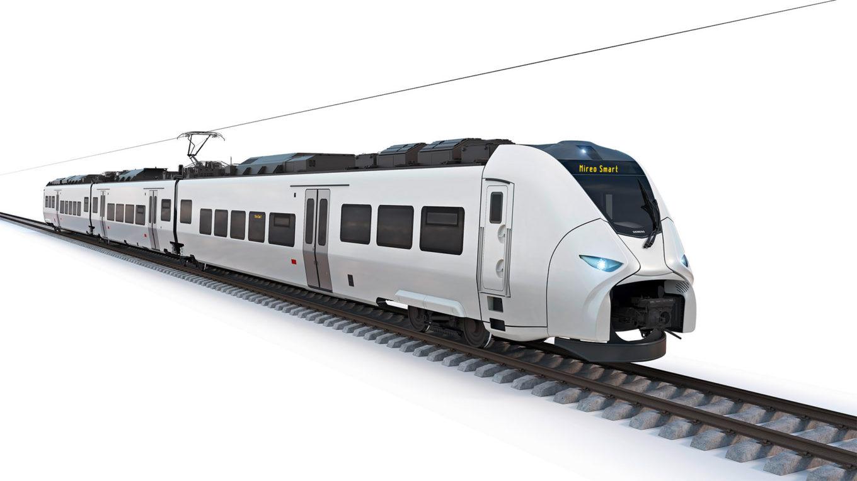Modell des neuen Siemens-Triebwagens Mireo Smart