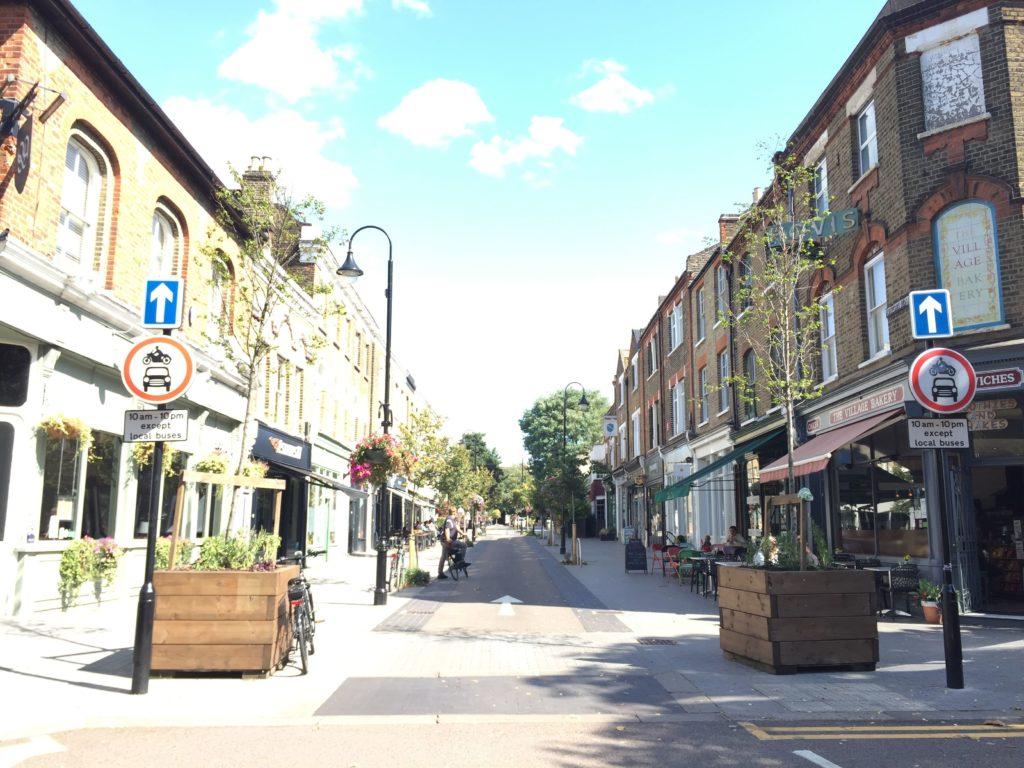 Fußgänger- und Radfahrerzone in London