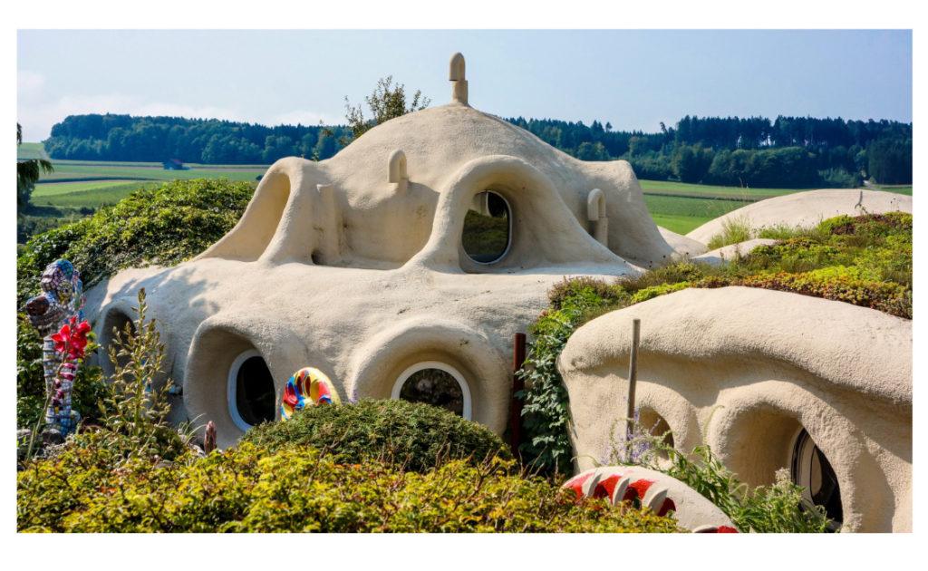 Erdhaus in der Schweiz nach Entwurf des Architekten Peter Vetsch