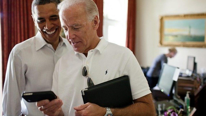 Der künftige US-Präsident Joe Biden mit Vorvorgänger Barack Obama