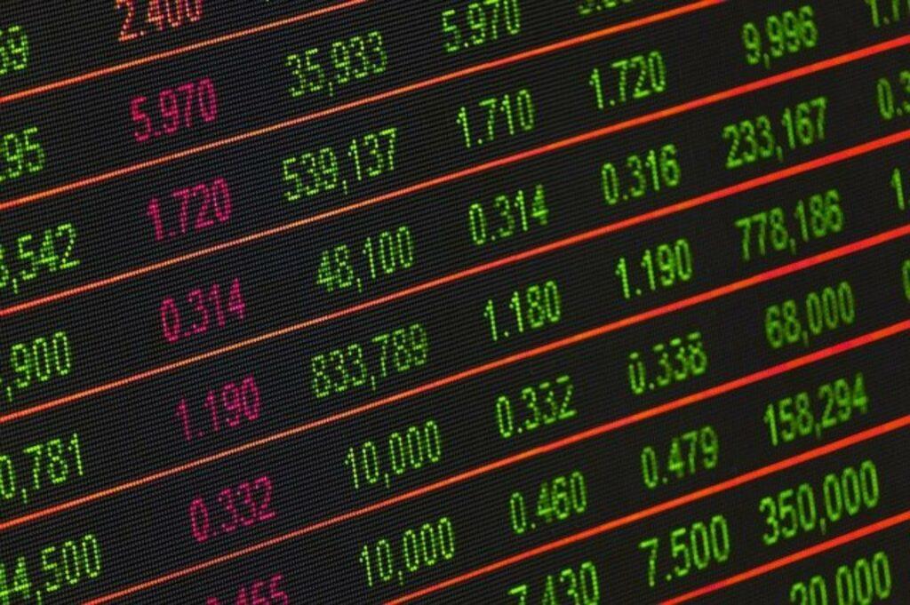 Elektronische Anzeigentafel für Aktienkurse