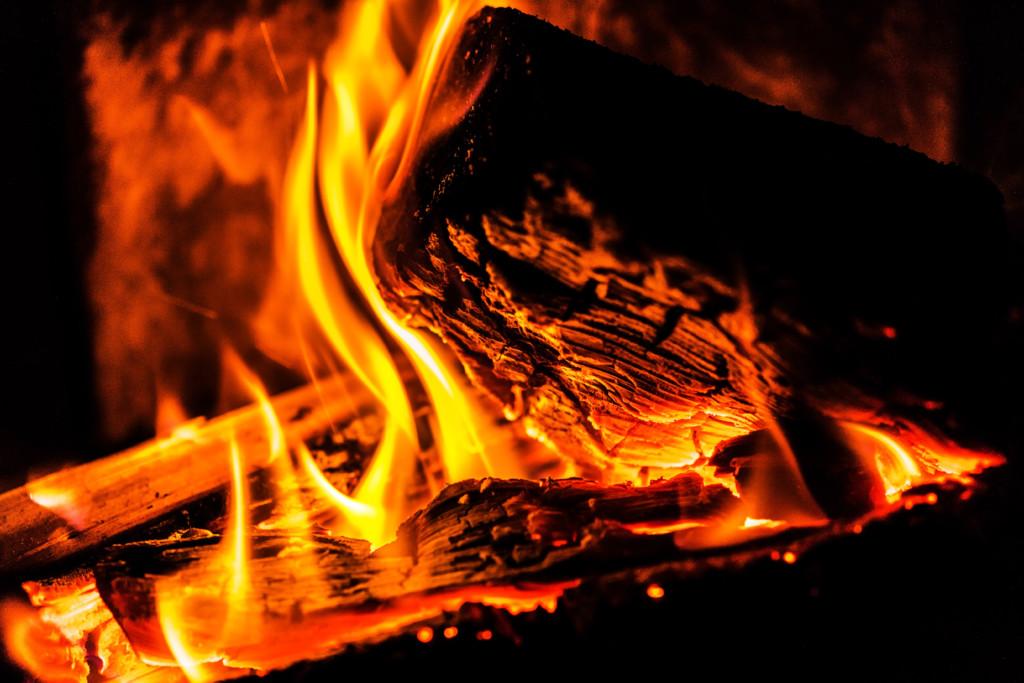 Holzfeuer  Beliebt in der Öko-Szene