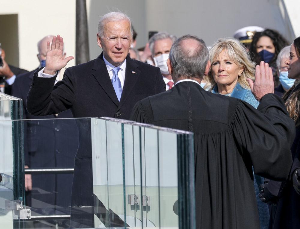 Vereidigung des neuen US-Präsidenten Joe Biden vor dem Kapitol