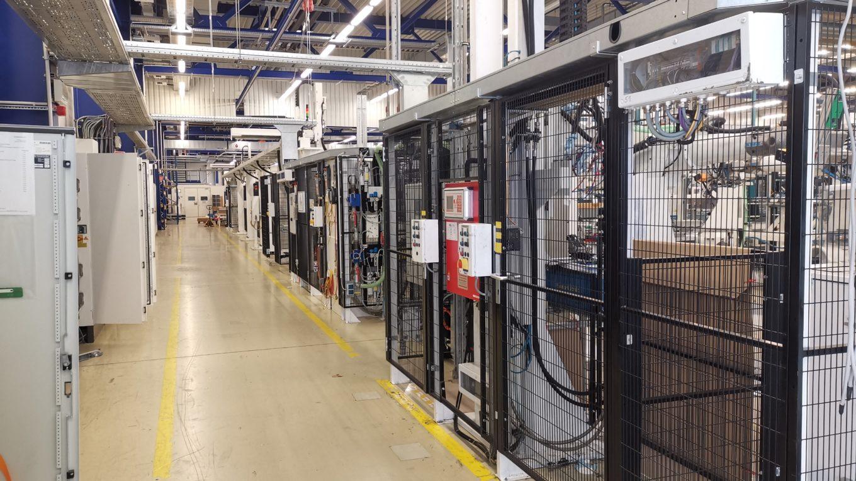 Produktionslinie zur Aufbereitung von Solarmodulen