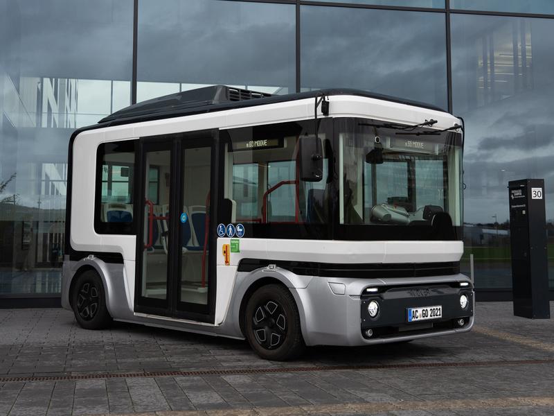 Prototyp eines elektrischen Kleinbusses der Aachener e.Go