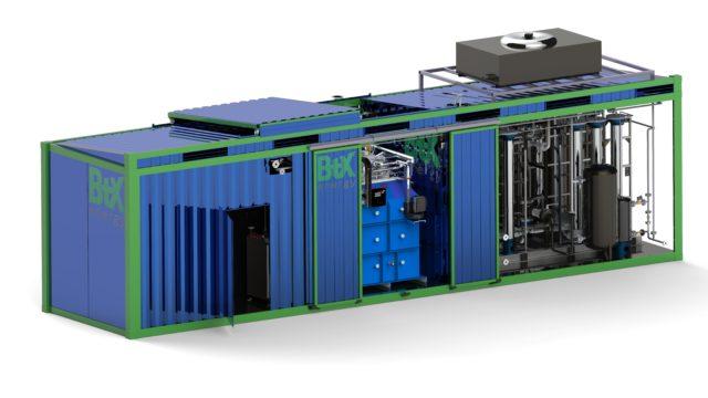 Modell einer neuartigen Anlage zur Wasserstoffproduktion
