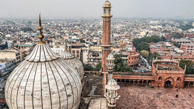 Blick auf die indische Hauptstadt Neu-Delhi