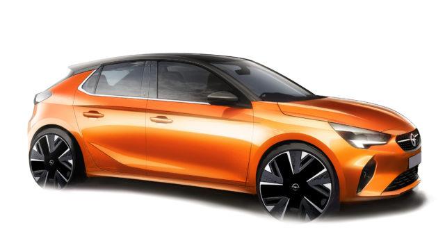 Opel Corsa-e als Computermodell