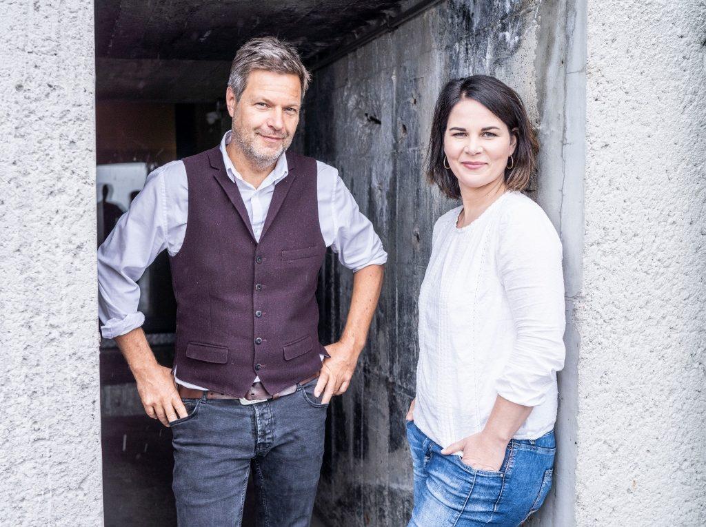 Grünen-Parteispitze Robert Habeck (l.) und Annalena Baerbock