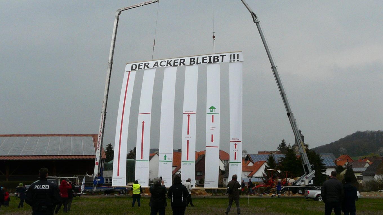 Bürgerprotest gegen geplantes Logistikzentrum in Nordhessen