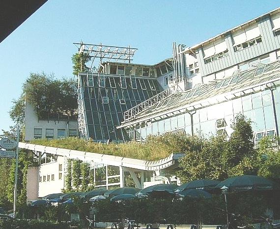 Begrüntes Ökogebäude in Frankfurt am Main