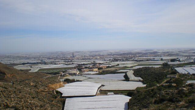 landwirtschaftliche Anbau unter Folientunneln rund um Almeria