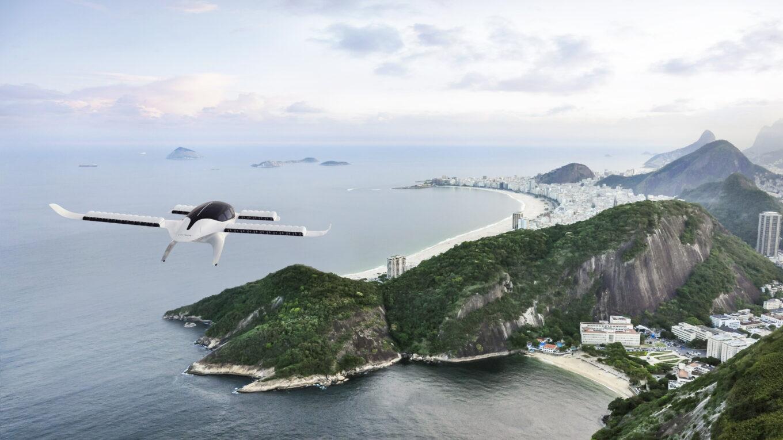 Lilium-Flugtaxi im Anflug auf Rio de Janeiro (Illustration)