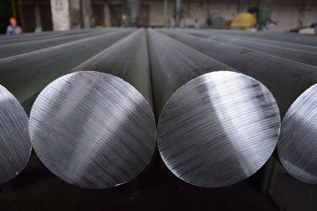 Produktion von Aluminium-Rundbarren