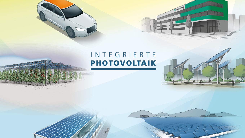 Das Schaubild zeigt, wie integrierte Photovoltaik funktioniert