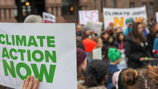 Jugendliche Klimaprotestler